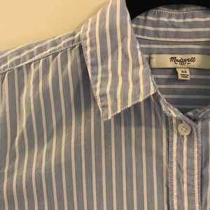 Madewell button-down tunic shirt with pockets